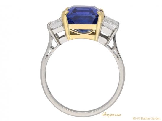 back-view-Vintage-sapphire-diamond-ring-berganza-hatton-garden