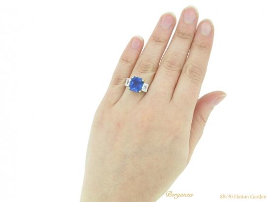 hand-view-Vintage-sapphire-diamond-ring-berganza-hatton-garden