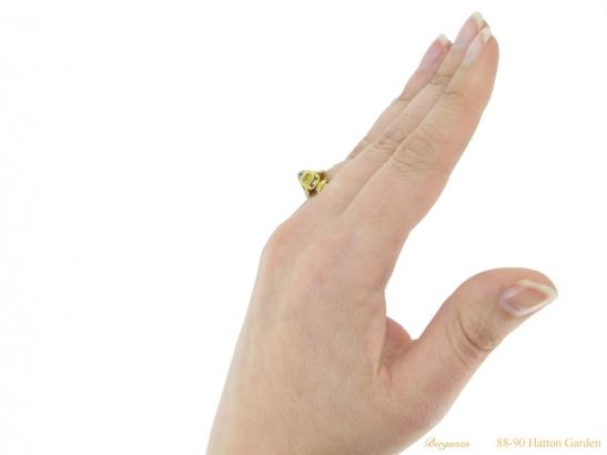 hand-view-Tudor-table-cut-diamond-ring-berganza-hatton-garden