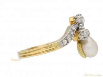 front-view-antique-pearl-diamond-ring-berganza-hatton-garden