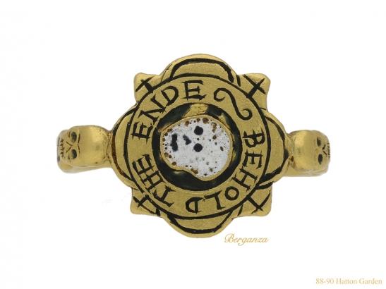 front-view-tudor-skull-enamelled-ring-hatton-garden-berganza