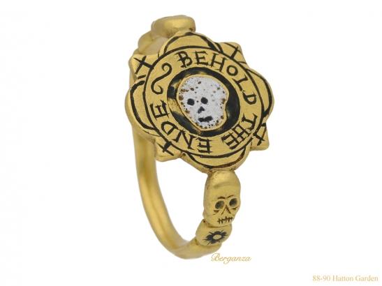 side-view-tudor-skull-enamelled-ring-hatton-garden-berganza