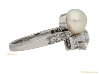 front-view-Pearl-diamond-antique-ring-berganza-hatton-garden