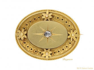 front-view-antique-Victorian-diamond-brooch-berganza-hatton-garden