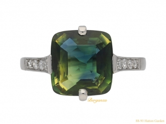 front-view-antique-diamond-Moghul-sapphire-ring-berganza-hatton-garden