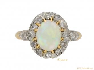 front-view-Victorian-opal-diamond-ring-berganza-hatton-garden
