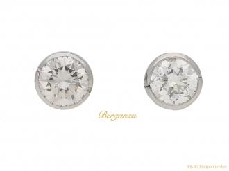 front-view-vintage-diamond-earrings-berganza-hatton-garden