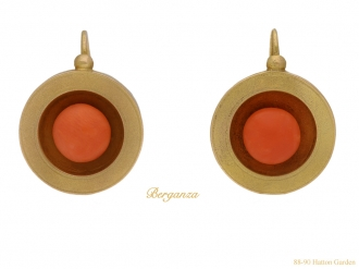 front-view-antique-coral-gold-earrings-berganza-hatton-garden