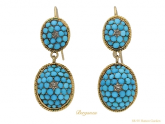 front-view-antique-turquoise-earrings-berganza-hatton-garden