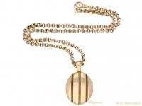 front-view-Antique-gold-locket-chain-berganza-hatton-garden