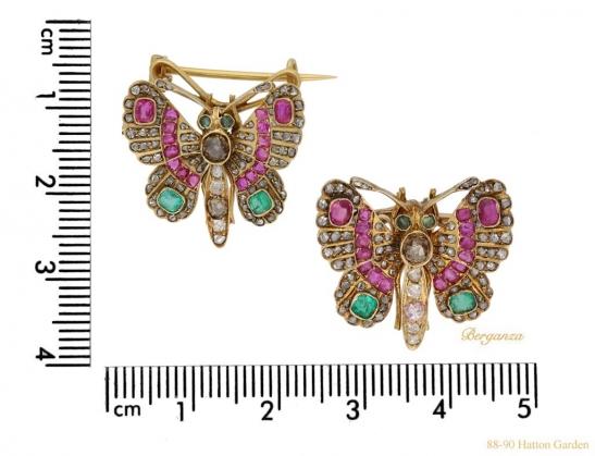 size-view-antique-butterfly-brooches-hatton-garden-berganza