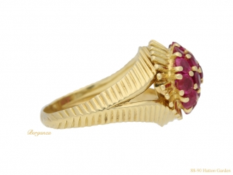 front-view-Tiffany-&-Co-ruby-cocktail- ring-berganza-hatton-garden