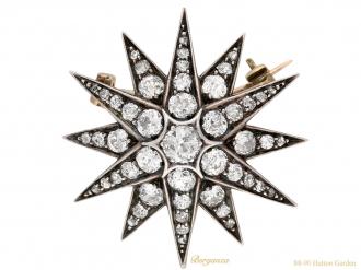 front-view-antique-diamond-star-brooch-berganza-hatton-garden