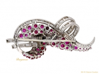 side-view-Vintage-ruby-diamond-brooch-berganza-hatton-garden