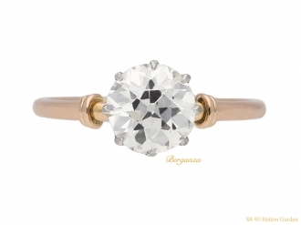 front-view-antique-diamond-engagment-ring-berganza-hatton-garden