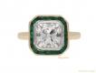 alt='front-view-antique-diamond-emerald-ring-berganza-hatton-garden'