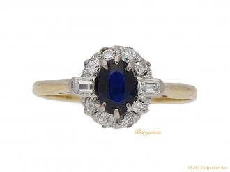 front-view-art-deco-diamond-sapphire-ring-berganza-hatton-garden