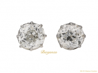 front-view-Antique-diamond-stud-earrings-berganza-hatton-garden