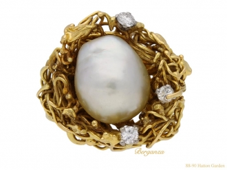 front-view-vintage-pearl-diamond-ring-berganza-hatton-garden
