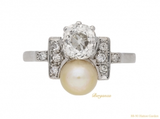 front-view-art-deco-pearl-diamond-ring-hatton-garden-berganza