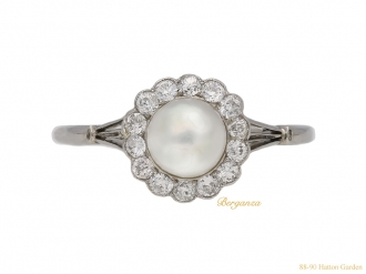 front-veiw-antique-pearl-diamond-ring-berganza-hatton-garden