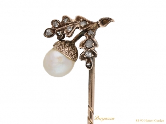 front-view-Antique-pearl-diamond-pin-berganza-hatton-garden