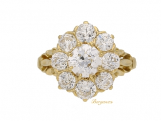 front-view-antique-diamond-cluster-ring-hatton-garden-berganza