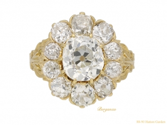 front-view-antique-diamond-gold-ring-hatton-garden-berganza