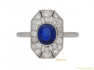 front-view-antique-diamond-sapphire-ring-hatton-garden-berganza