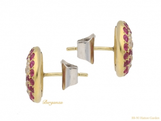 front-view-vintage-ruby-diamond-earrings-hatton-garden-berganza