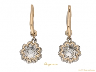 front-view-antique-diamond-earrings-hatton-garden-berganza