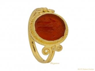 front-vview-ancient-roman-ring-berganza-hatton-garden