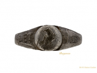 front-view-Ancient-Roman-silver-ring-berganza-hatton-garden