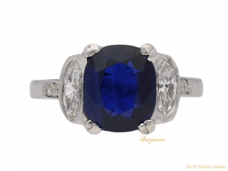 front-view-Art-Deco-sapphire-diamond-ring-berganza-hatton-garden