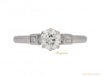 front-view-Art-Deco-engagement-diamond-ring-berganza-hatton-garden