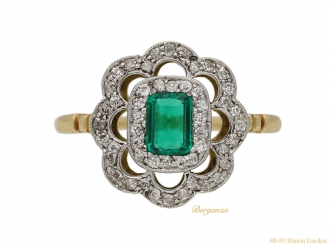 front-view-antique-diamond-emerald-ring-berganza-hatton-garden
