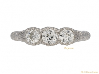 front-view-antique-diamond-3-stone-ring-berganza-hatton-garden