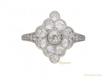 front-view-antique-diamond-cluster-berganza-hatton-garden