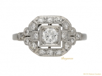 front-view-Art-Deco-diamond-cluster-ring-berganza-hatton-garden