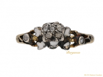 front-view-Antique-diamond-skull-ring-berganza-hatton-garden