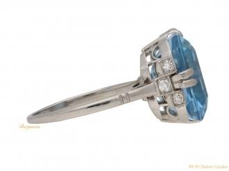 front-veiw-art-deco-diamond-aquamarine-ring-berganza-hatton-garden