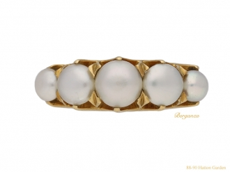 front-view-antique-natural-pearl-ring-berganza-hatton-garden