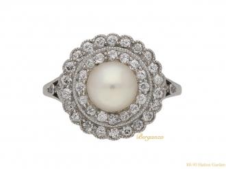 front-antique-Caldwell-pearl-diamond-ring-berganza-hatton-garden