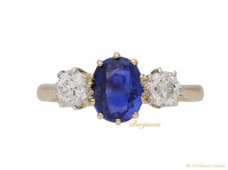 front-antique-sapphire-diamond-ring-berganza-hatton-garden