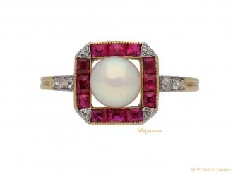front-antique-pearl-ruby-diamond-ring-berganza-hatton-garden