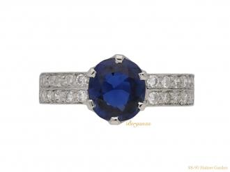 front-vintage-sapphire-diamond-ring-berganza-hatton-garden