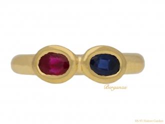front-Chaumet-ruby-sapphire-ring-berganza-hatton-garden