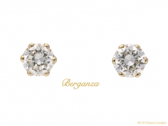 front-vintage-diamond-earrings-berganza-hatton-garden