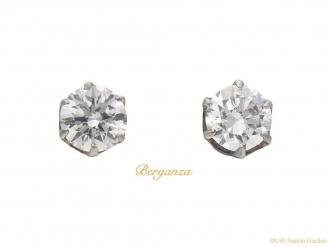 front-vintage-white-gold-diamond-earrings-berganza-hatton-garden
