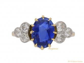 front-antique-diamond-sapphire-ring-berganza-hatton-garden